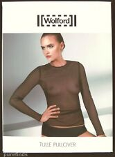 WOLFORD TULLE PULLOVER, SIZE M, IN BLACK, New in box