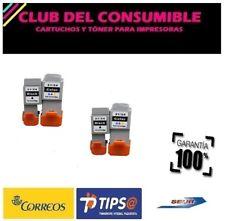 4 X CANON BCI24/BCI21 NEGRO Y COLOR NO OEM PIXMA IP1500/2000/MP110