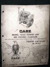 CASE Model 219A Gasoline Engine 1957 Parts Catalog