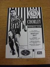 21/09/1993 Chorley v Whitley Bay [FA Trophy Replay] . Item in very good conditio