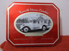 """COLLECTABLE  """"RUSSELL STOVER""""  """"BUNGALOW TRUCK  1925"""" CANDY TIN with HINGED LID"""