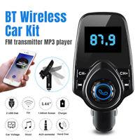 NEW Bluetooth Wireless FM Transmitter MP3 Radio Adapter Car Kit Dual USB Charger