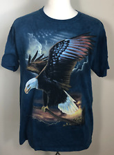 The Mountain Patriot Eagle Us America Nationalism Army Flag T Tee Shirt L Large