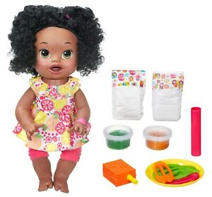 Baby Alive Super Snacks Snackin' Sara African-American Doll NEW