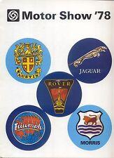 Austin Morris Rover Jaguar Triumph 1978 Motor Show Price List Pub 3349