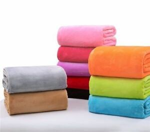 Coral Velvet Soft Warm Polar Fleece Blanket Rug Sofa Bed Throwover 70*100CM ZH