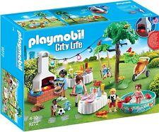 Playmobil City Life 9272. Fiesta en el jardín casa moderna. A partir de 4 años