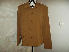 Briggs New York size M/14 2 piece brown/beige skirt suit