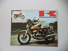 advertising Pubblicità 1973 MOTO KAWASAKI 750 MACH IV H2