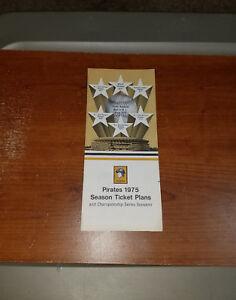 1975 PITTSBURGH PIRATES SEASON TICKET PLANS BOOKLET RARE