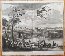 Montanus America Original Large View Arx Principis Guiljelmi Brazil - 1671