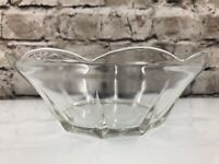 "Beautiful Antique/Vintage Scalloped Edge Clear Glass Bowl Dish 8"" x 2 3/4"""