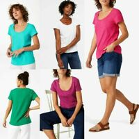 NEW RRP £39.95 Ex White Stuff Cutwork Jersey Top In 5 Colours!            (B178)