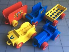 Lot Of 5 Lego Duplo Vintage Classic Red Yellow Blue Truck Farm Car Vehicle