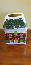 Partylite Winter Village 3 Wick Candle Holder Tin New In Box