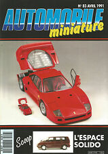 AUTOMOBILE MINIATURE N°83 L'ESPACE SOLIDO / F 40 POCHER AU 1/8° / F 40 FUJIMI