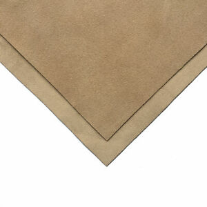 Thin BEIGE Genuine Suede Leather Sheet 6x6in/15x15cm 1.25oz/0.5 mm NOUGAT 753