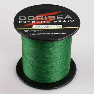 Dorisea 100M/109Yards 30lbs 0.26mm Extreme Moss Green Braided Fishing Line