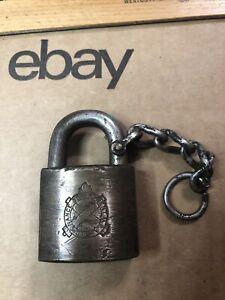 Vintage US Navy Ordnance Department Brass Padlock - No Key !