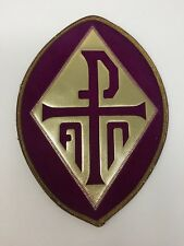 Vintage Purple Velvet Px Emblem Embroidered Vestment Altar 1 Pc.