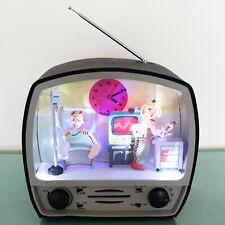 EROTIC Alarm Mantel Clock RADIO Animated Feature! Very Rare Large FRENCH Vintage