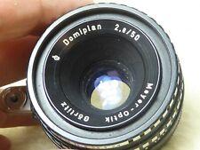 Meyer-Optic Domiplan 50mm f2.8 lens in Exakta mount,