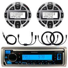 Kenwood Marine Media Bluetooth Receiver 2x Kca-rc55mr Wired Remotes Wires