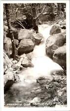 RPPC IDYLLWILD, CA California    STRAWBERRY CREEK  1949 Gray & Sons Postcard