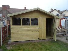 12x10 reverse apex  shed Loglap t&g