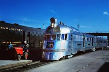 CB&Q RAILROAD 'PIONEER ZEPHYR' TRAIN 8x12 SILVER HALIDE PHOTO PRINT