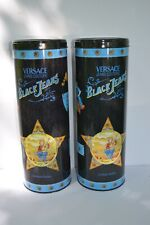 Pair of 1990's Limited Series Decorative Litho VERSACE Jeans Packing Tin