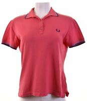FRED PERRY Womens Polo Shirt Size 18 XL Pink Cotton Slim Fit  KR10