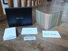 *** PAUL SMITH Signature Stripe Leather Wallet With Coin, New, Boxed, £150 (3)