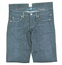 7 For All Mankind Womens Size 25 Straight Leg Blue Dark Wash Stretch Denim Jeans