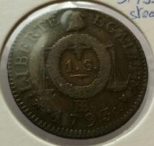 France - Convention (1792-1795) - 1 sol aux balances 1793 BB (Strasbourg)