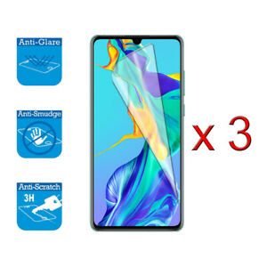 """For Huawei P30 6.1"""" - Screen Protector Shield Cover Guard LCD Film Foil x 3"""