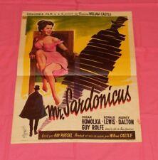 original Belgian MR. SARDONICUS movie poster