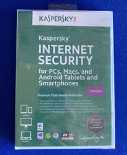 Kaspersky Internet Security 3 Devices - PCs, Macs, Android Brand New Sealed 2013