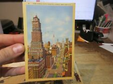 Vintage Old Postcard NEW YORK CITY Park Avenue Looking South 57th Street Rooftop