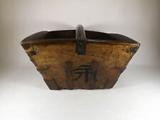 Finest Antique Chinese Rice Bucket w/ Chinese Marks Hand Dovetailed Early Nails