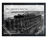 Historic California & Oregon Lumber Co. - Brookings, Oregon Train Postcard