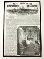 1856 Russian Royalty Antique Print Royal Coronation Cathedral of the Assumption