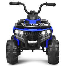 6V Battery Powered Child Ride On ATV 4-Wheeler Quad w/ MP3 & LED Headlight Blue