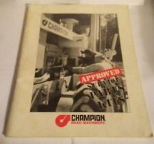 Champion Road Machinery Approved Service Grader Parts Kits Booklet 1286