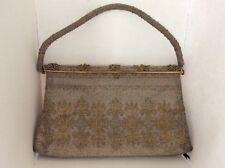 Gorgeous Hand Made In France Micro Bead Rosenfeld Handbag Purse Evening Bag!!