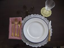 """25 14"""" INCH OFF WHITE IVORY PAPER ROUND LACE DOILY 25 PCS PLACEMAT CHARGER event"""