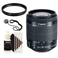 Canon EF-S 18-55mm f/3.5-5.6 IS STM Lens for EOS DSLR Cameras + UV Filter + more