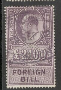 Edward VII - £2 10/-.  Lilac - Foreign Bill. - Used.