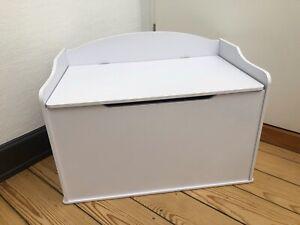 Kidkraft Spielzeugkiste Austin Spielzeugtruhe 76,2 x 45,7 x 54 cm weiß