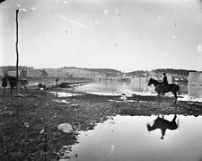 New 8x10 Civil War Photo: Pontoon Across the Potomac River, Antietam Sharpsburg